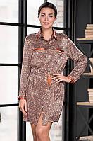 Блузка - платье из натурального шелка 70%. Италия (видео). Mia Mia  Сандра 3367