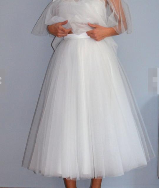 Фатиновая юбка  - свадебная короткая