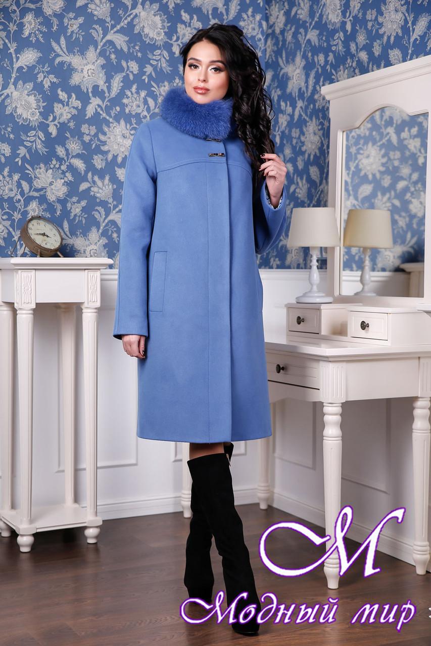Женское кашемировое зимнее пальто с мехом (р. 44-58) арт. 990 Тон 49 ... 32e79adcbba9f