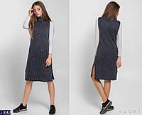 Женское платье без рукавов вязанное