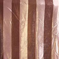 Шторы Блекаут полоска №2012 орех