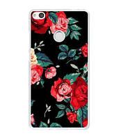 Силиконовый чехол для Huawei P8 Lite 2017 с картинкой Цветы