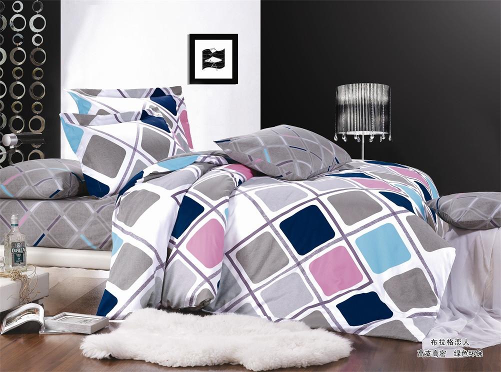 """Двуспальный комплект постельного белья 180*220 из сатина """"Геометрическая эстетика"""""""