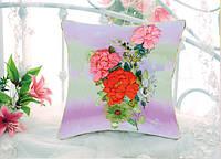 Подушка для вышивки лентами Красивое цветение