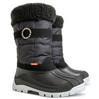 Зимние сапоги, дутики, сноубутсы для девочки р.35-42 ТМ Demar ANETTE черный (Польша)