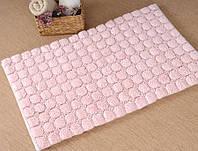 Набор ковриков для ванной Irya - Bubble розовый - 60*100+45*60