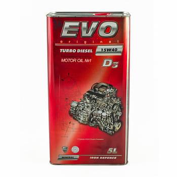 Моторное масло EVO D3 15W-40 TURBO DIESEL 5л