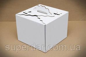 Коробка для торта, 250*250*200 мм, біла