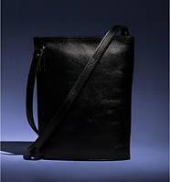 Сумка BlankNote Blank-Bag-3-black кожаная Черный