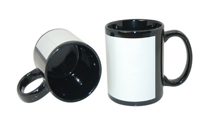 Чашка для сублимации цветная с полем 330 мл (Чёрный)