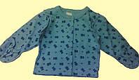 Кофточка голубая трикотажная, для новорожденного, в мишки, р.3-6 мес. 68 см