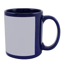 Чашка для сублимации цветная с полем 330 мл (Кобальт)
