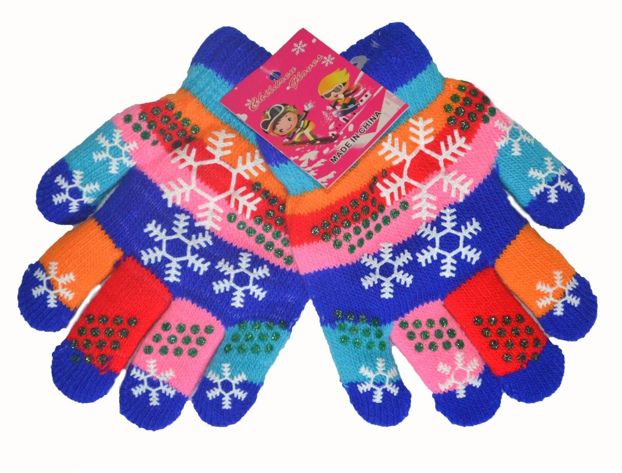 Перчатки двойные для девочки