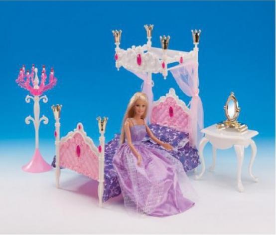 """Меблі для ляльок Gloria 1214 """"Спальна кімната"""""""