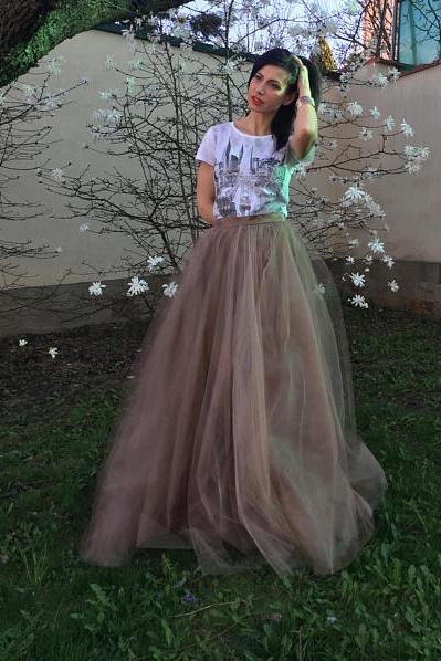 Фатиновая юбка  - длинная