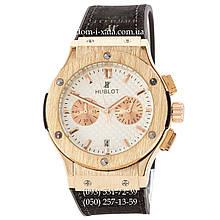 Мужские наручные часы Hublot Classic Fusion Quartz Black-Gold-White, Хублот классик, реплика, отличное качество!