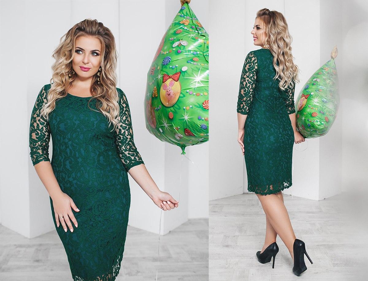 f2219ea22ff7c12 Купить Вечернее женское платье гипюровое зелёное (6 цветов) ТК ...