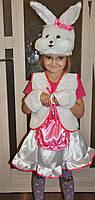 Зайчик , Заяц ,зайка карнавальный костюм для девочки на Новый год, фото 1