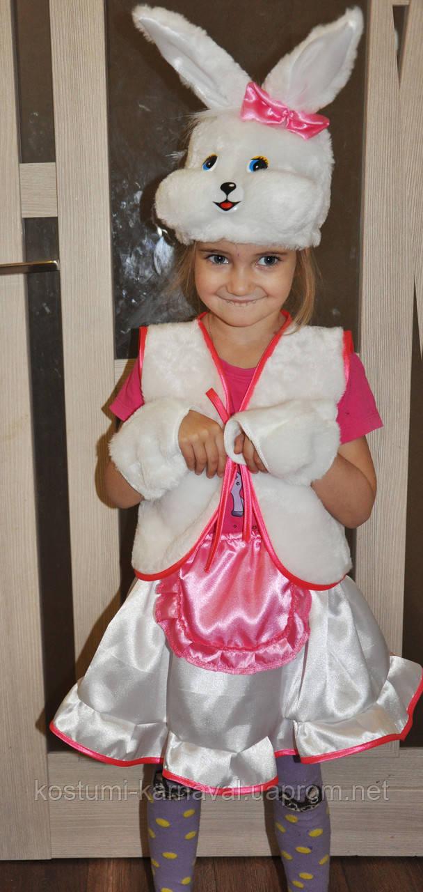 Зайчик , Заяц ,зайка карнавальный костюм для девочки на Новый год