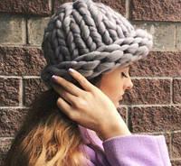 Шапка крупной вязки, Вязанная шапка, Шапка Хельсинки, Шапка из толстой пряжи, Зимняя женская шапка