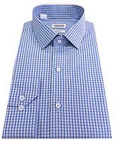 Рубашка мужская приталенная в клетку  №10-12 - 50-1007 V5  SF, фото 1