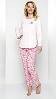Велюровая женская пижама розовая 44 46р Regina 845 Польша