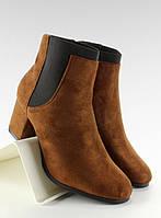 11-13 Светло-коричневые женские ботинки на низком каблуке nc18 39,40,38,37