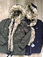 Куртки-парки зимние на мальчика оптом, Nature, 10/11-16/17 рр, фото 1