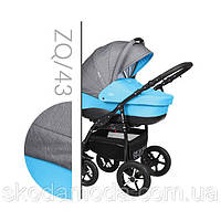 Детская универсальная  коляска  2 в 1 BABY MERC ZIPY Q  2 в 1  ZQ/43 голубая