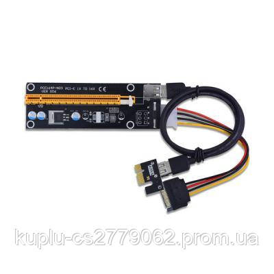 c91f759ec8b6 Райзер Dynamode PCI-E x1 to 16x 60cm USB 3.0 Cable SATA to 4Pin IDE ...