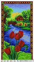 Схема для вышивки бисером Цветы любви