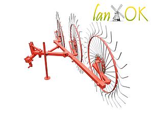 Грабли для мототрактора (минитрактора) Солнышко 3, фото 2