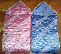 Конверт-одеяло на синтепоне для новорожденного