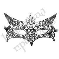 Кружевная маска Леди (серебро)