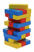 Goki детская игра Дженга Разноцветная башня, дженга деревянная башня