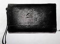 Мужской деловой клатч-кошелек из натуральной кожи ящерицы