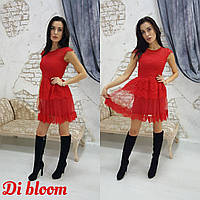 Платье вечернее гипюровое, подкладка - трикотаж с сеткой (12013)