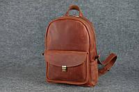 Кожаный женский рюкзак Лимбо XL | Винтажный Коньяк, фото 1
