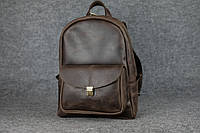 Кожаный женский рюкзак Лимбо XL   Винтажный Кофе, фото 1