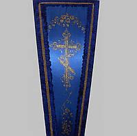 Золотой крест атлас гроб оббитый 200х70 см