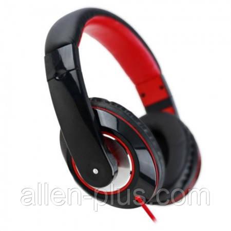 Наушники с микрофоном HAVIT HV-H613D black/red
