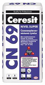 Самовыравнивающаяся смесь 1-15 мм Ceresit 25 кг CN 69