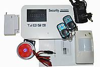 Комплект беспроводной GSM сигнализации 10В с металлическими брелоками
