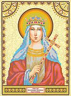 Схема для вышивки иконы бисером на натуральном художественном холсте Святая Екатерина