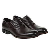 Туфли мужские Cosottinni(кожаные, модные, с декорированным носком)