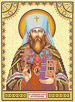 Схема для вышивки иконы бисером на натуральном художественном холсте Святой Вениамин
