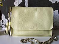 Желтая сумочка-кроссбоди из натуральной кожи от Totty
