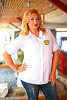 Женская хлопковая рубашка БАТАЛ