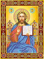 Схема для вышивки иконы бисером на натуральном художественном холсте Икона «Венчальная пара. Иисус»