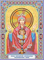 """Схема для вышивки иконы бисером на натуральном художественном холсте Икона Богородицы """"Неупиваемая чаша"""""""